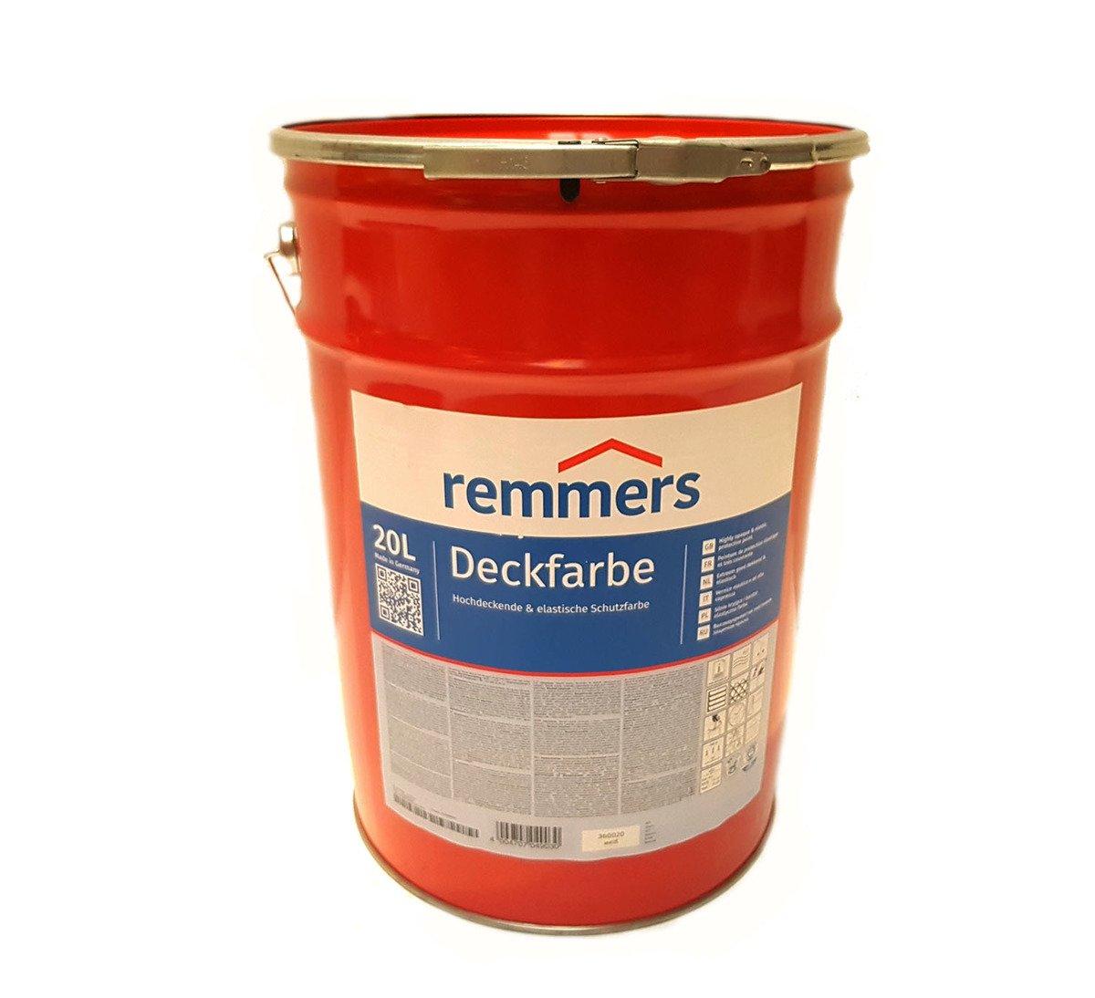 remmers aidol deckfarbe 20 l wetterschutzfarbe wei baustoffe remmers lacke lasuren f r. Black Bedroom Furniture Sets. Home Design Ideas