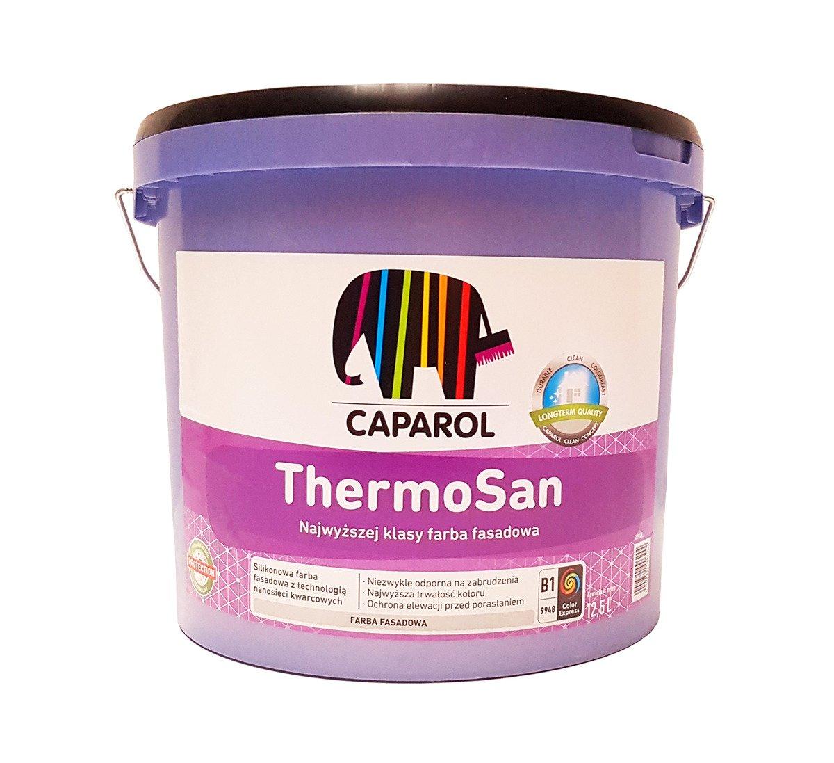 caparol thermosan nqg siliconharz fassadenfarbe 12 5 l wei 12 5 l. Black Bedroom Furniture Sets. Home Design Ideas