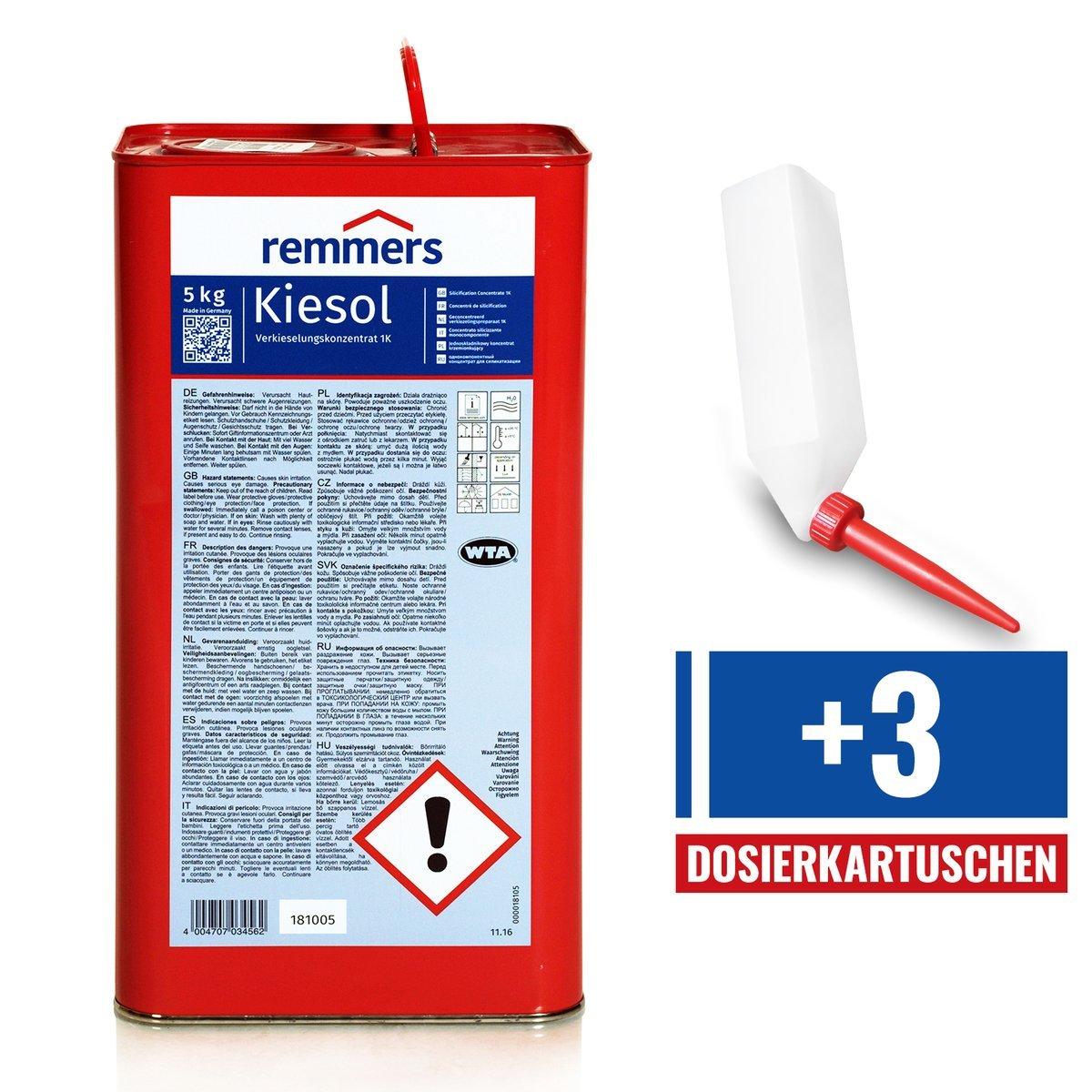 Ongebruikt Set REMMERS KIESOL 5 KG Verkieselung Abdichtung + 3 UW-72